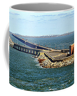 Coffee Mug featuring the photograph Chesapeake Bay Bridge Tunnel E S V A by Bill Swartwout Fine Art Photography