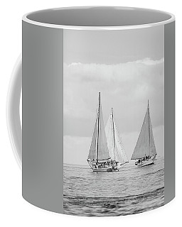 Coffee Mug featuring the photograph Chesapeake Bay Skipjacks by Mark Duehmig