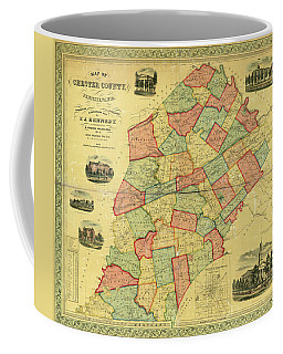 Chester County Pennsylvania Map 1856 Coffee Mug