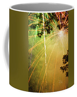 Yellow Fireworks Coffee Mug