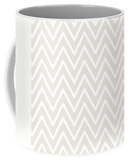 Chevron Wave Gardenia Coffee Mug