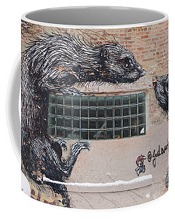 Chicago Street Art, Graffiti, Rats Coffee Mug