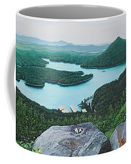 Coffee Mug featuring the painting Chilhowee Overlook by Mike Ivey