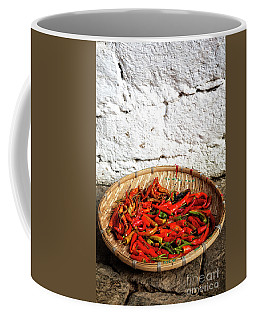 Coffee Mug featuring the photograph Chillies by Scott Kemper
