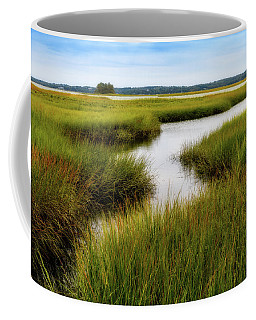 Coffee Mug featuring the photograph Choate Is. Estuary Ipswich Ma. by Michael Hubley