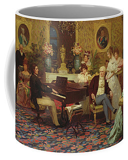 Chopin Playing The Piano In Prince Radziwills Salon Coffee Mug