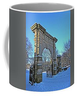 Chorley. Gates In The Snow Coffee Mug
