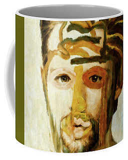 Coffee Mug featuring the mixed media Christian by Susan Maxwell Schmidt