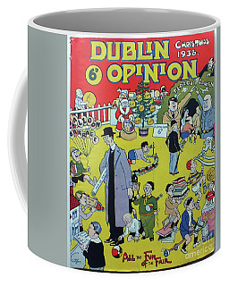 Coffee Mug featuring the painting Christmas 1938 Dublin Opinion by Misc