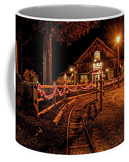 Coffee Mug featuring the photograph Christmas At The Barn In Smithville by Kristia Adams