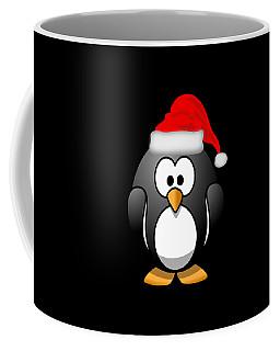 Coffee Mug featuring the digital art Christmas Santa Penguin by Flippin Sweet Gear
