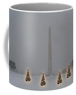 Christmas Trees Around The Monument Coffee Mug