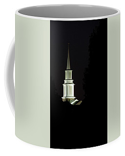 Coffee Mug featuring the photograph Church Steeple At Night by Jerry Sodorff