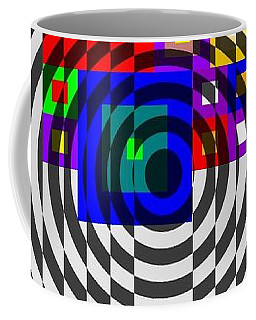 Coffee Mug featuring the painting Circular Colour Fusion  by Arttantra