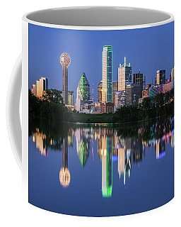 Coffee Mug featuring the photograph City Of Dallas, Texas Reflection by Robert Bellomy