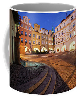 City Of Jelenia Gora In Poland At Night Coffee Mug