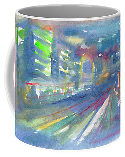Coffee Mug featuring the painting Cityscape 2 by Dobrotsvet Art