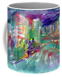 Coffee Mug featuring the painting Cityscape 3 by Dobrotsvet Art