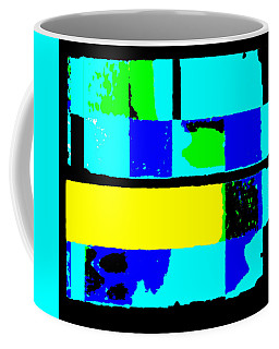 Cityscapec 4000 Original Fine Art Painting Digital Abstract Triptych Coffee Mug