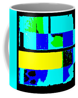 Cityscapec 4000 Original Fine Art Painting Digital Abstract Triptych Coffee Mug