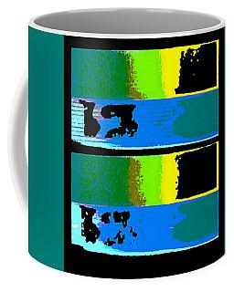 Cityscaper 4000 Original Fine Art Painting Digital Abstract Triptych Coffee Mug