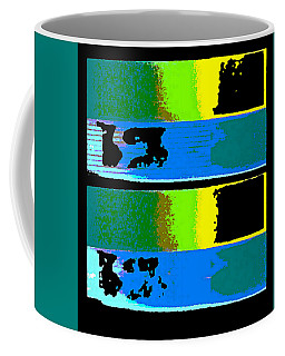 Cityscaper 4000 Original Fine Art Painting Digital Abstract Triptych Coffee Mug