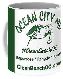 Coffee Mug featuring the photograph Cleanbeachoc Poster by Robert Banach