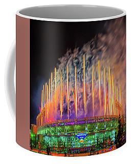 Cleveland Baseball Fireworks Awesome Coffee Mug