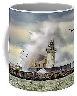 Cleveland Lighthouse Storm  Coffee Mug
