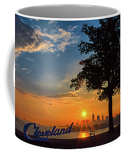 Cleveland Sign Sunrise Coffee Mug