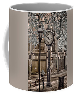 Clock On Street Coffee Mug