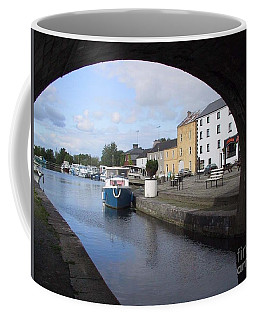 Coffee Mug featuring the painting Cloondara,a Shannon By Way. by Val Byrne