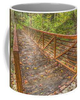 Close Up Of Bridge At Pine Quarry Park Coffee Mug