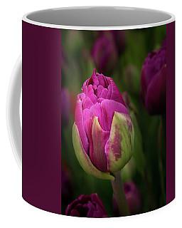 Closed Pink Tulip Coffee Mug