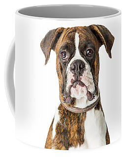 Closeup Boxer Dog Looking Forward Coffee Mug