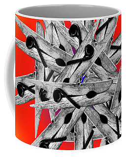 Clothespin Pop Art Warhol Style Print - #1 Coffee Mug
