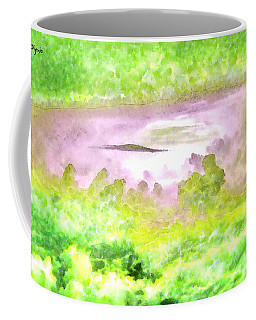Cloud Abstractions Green - Da Coffee Mug