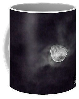 Clouds And Crescent Moon Coffee Mug