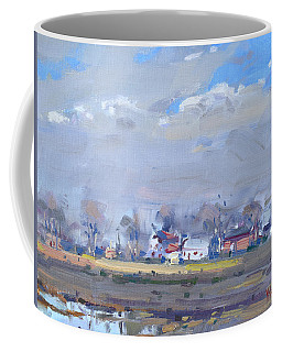 Cloudy Day At The Farm Coffee Mug