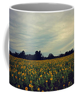 Cloudy Sunflowers Coffee Mug