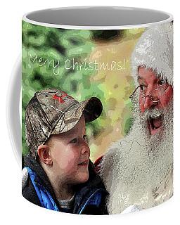 Coffee Mug featuring the photograph Cody Santa Greeting by Jerry Sodorff