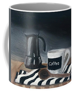 Coffee Mug featuring the painting Coffee Time by Fe Jones
