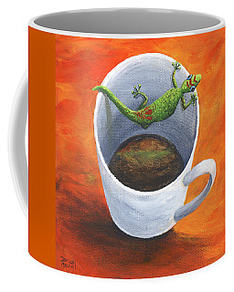 Coffee Mug featuring the painting Coffee With A Friend by Darice Machel McGuire