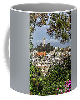 Coit Tower Through Trees Coffee Mug