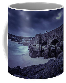 Cold Mood On The Pier Coffee Mug