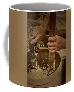 Coffee Mug featuring the photograph Coleslaw Maker by Guy Whiteley