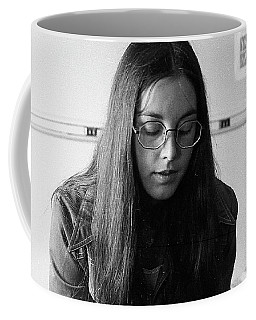 College Student With Octagonal Eyeglasses, 1972 Coffee Mug