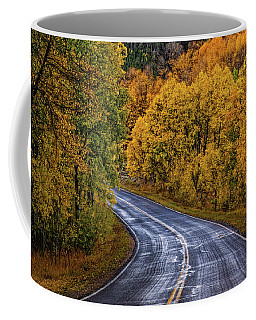 Coffee Mug featuring the photograph Colorado Fall Country Road by John De Bord