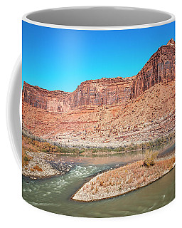 Coffee Mug featuring the photograph Colorado River At Salt Wash by Andy Crawford