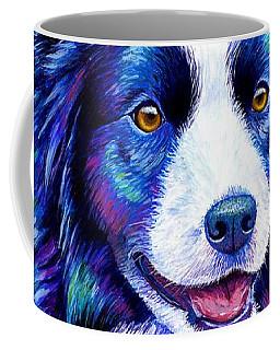 Colorful Border Collie Dog Coffee Mug